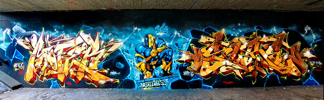 Artists: MoterOne, Sure761 - Team Renegades - Complete Wall