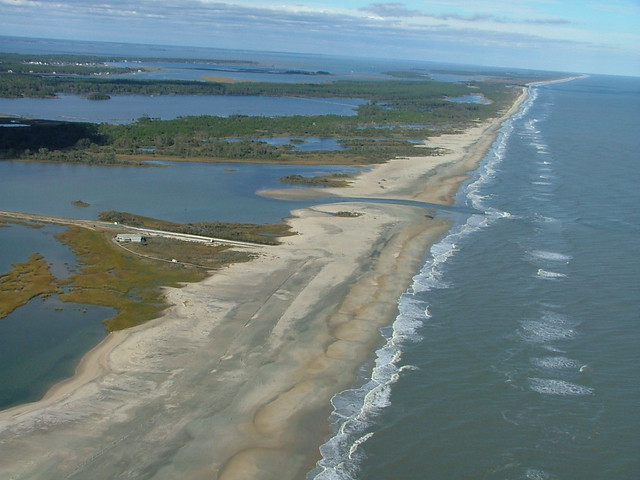 Effects of storm surge, Chincoteague National Wildlife Refuge (VA)
