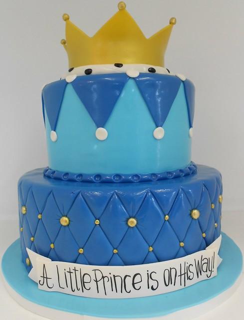 royal blue prince baby shower cake 1395 2 tier royal blu
