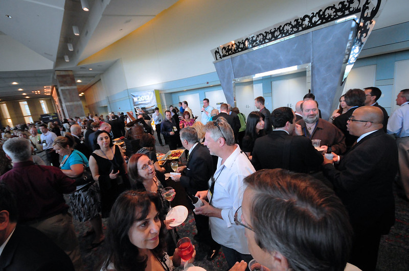 Busy networking at the 2012 Expo