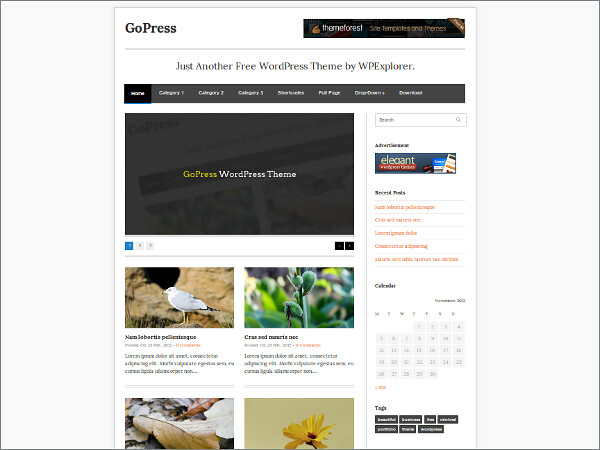 GoPress Free WordPress Theme