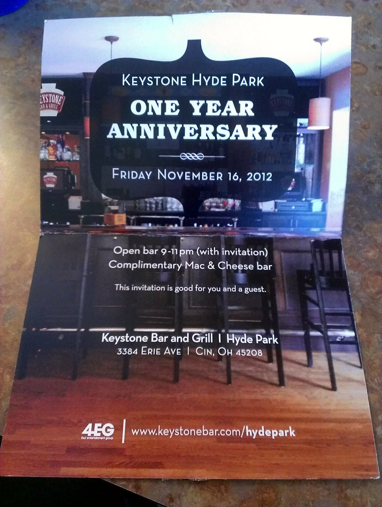 Keystone Anniversary Invitation