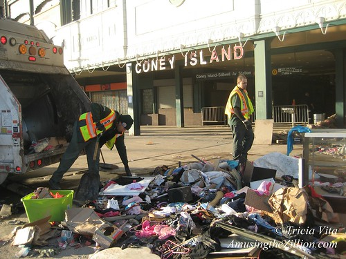 Storm Cleanup in Coney Island