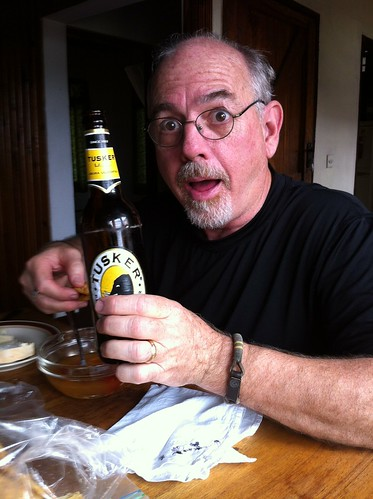 Jim's first drink in TZ