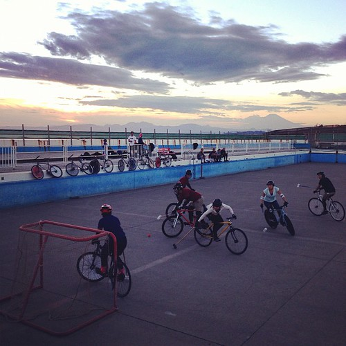 11th, Nov. 2012 at Kugunuma skate park / Saturday polo with Mt. Fuji