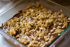 muesli(0.0), breakfast cereal(1.0), meal(1.0), breakfast(1.0), produce(1.0), granola(1.0), food(1.0), dish(1.0), dessert(1.0), cuisine(1.0), snack food(1.0),