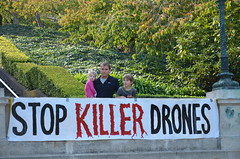 Drones protest by Codepink at Senator Feinstein's home