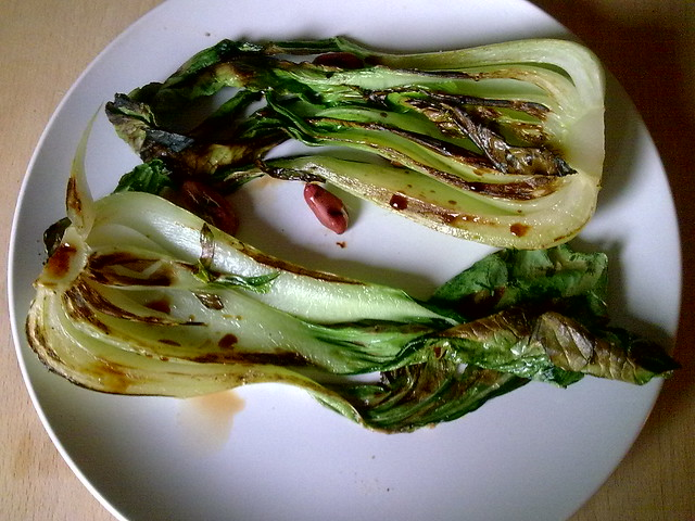 Grilled Bok Choy with Soy   Flickr - Photo Sharing!