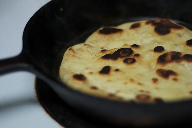 naan using ABin5 sourdough