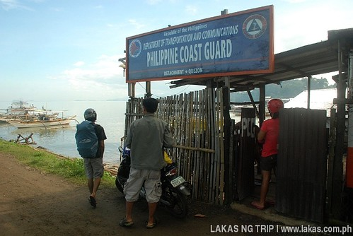 Philippine Coastguard at the port of Quezon, Palawan