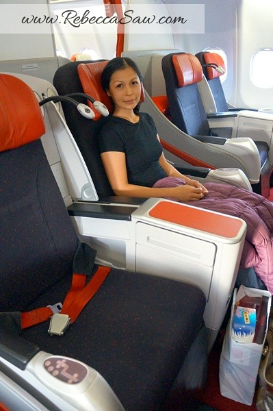 Airasia X premium flatbed review - rebeccasawblog