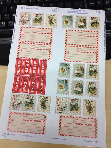 Christmas labels for printing