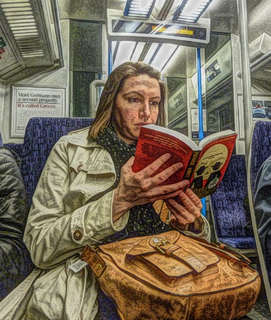 Experimenting, a reader in train
