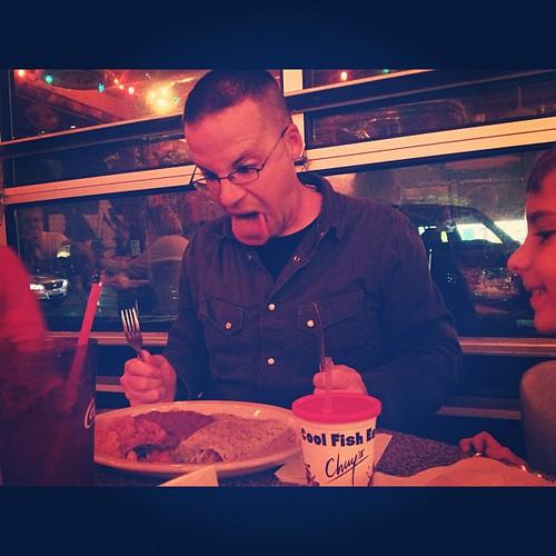 The man likes enchiladas. #Chuys