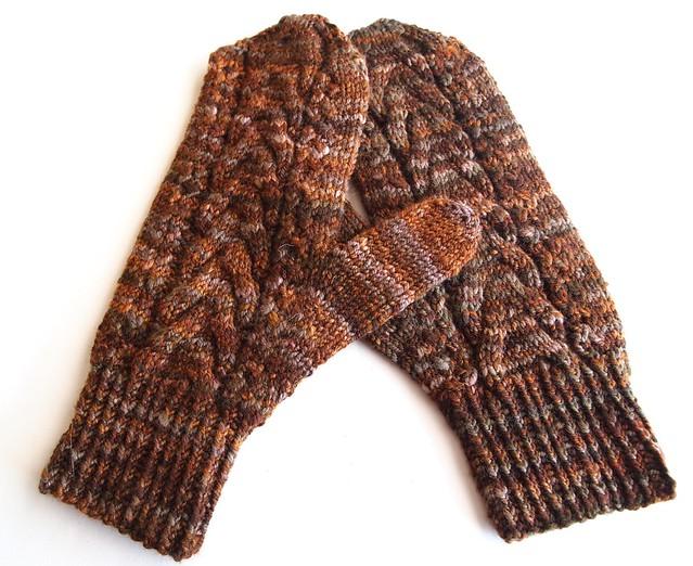 Dad's Kalamata mittens-handspun