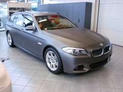 BMW 5 Touring carwrap mat antraciet
