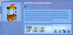 Fall Fare Concession Stand