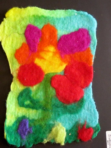 R's wet felted flower