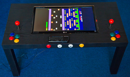 Raspberry Pi Arcade Table Nearly Finished — robmiles com