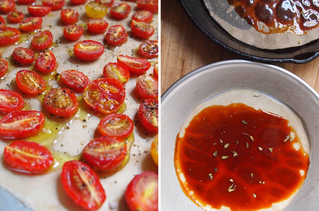 Roasted tomatoes and caramel