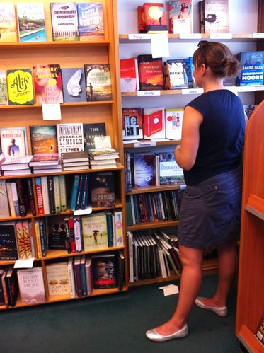 Ruth browsing at my local book store
