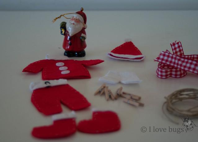 Guirnalda ropa de Papa Noel