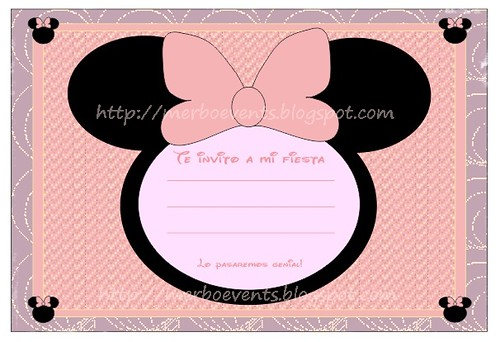 invitación minnie