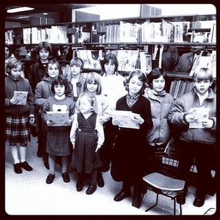 Opening Bibliotheek Lange Munte. 25 jaar geleden. December 1987. Iemand herkent?