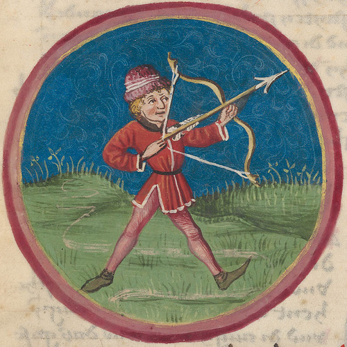 Zodiac sign of Sagittarius in a 15th century manuscript by e-codices