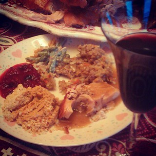 Our yummy #Thanksgiving dinner.