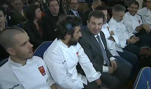 Momento de la gala de entrega de las Estrellas Michelin 2013