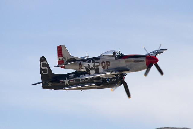 P-51D & F8F