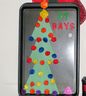 Magnetic Christmas Countdown (Photo from Craft to Art)