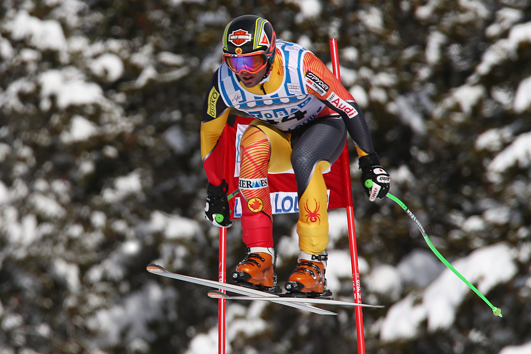 Manuel Osborne-Paradis during World Cup downhill in Lake Louise.