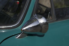 "Porsche 912 driver's side (left, port) rear view mirror ""Talbot & Co. Berlin"""