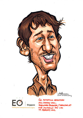Mr Jeremy Hall caricature for EO Singapore