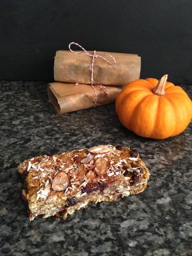 Chewy Pumpkin Spice Granola Bars - Gluten-free + Vegan