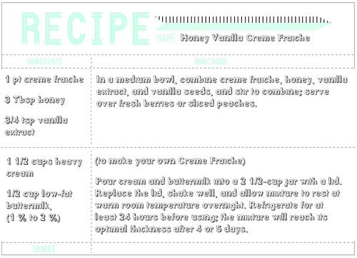 recipe creme