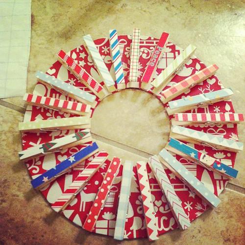 Teacher gift card wreath. #iwinpta