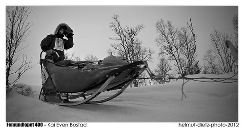 Femundlopet 2012: Kai Even Bostad, helmut-dietz-sled-dog-photo