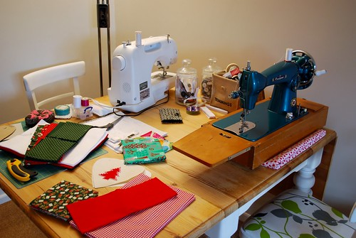 My ad hoc sewing room