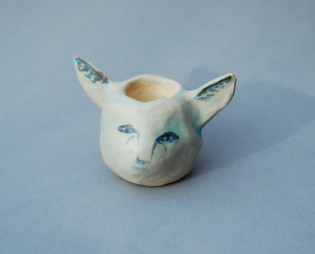 ceramic cat head