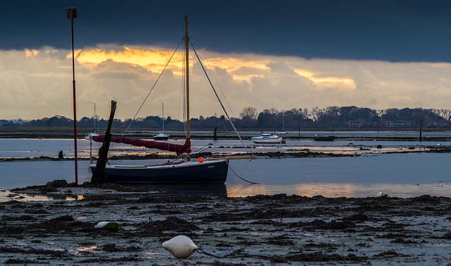 Emsworth Harbour at sunset