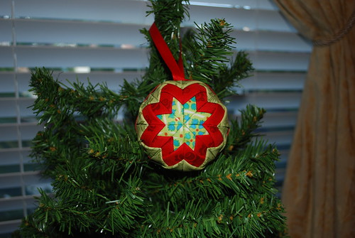 Folded Fabric Star Ornament