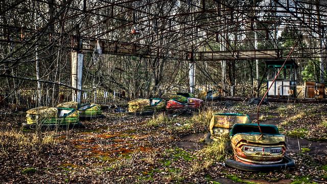 0318 - Ukraine, Pripyat, Bumper Cars HDR