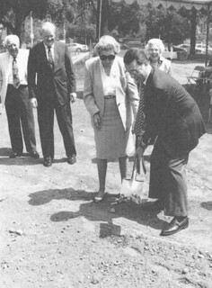 During Alumni Weekend 1996, ground was broken for the Edwin F. and Margaret Hahn Building west of Carnegie.