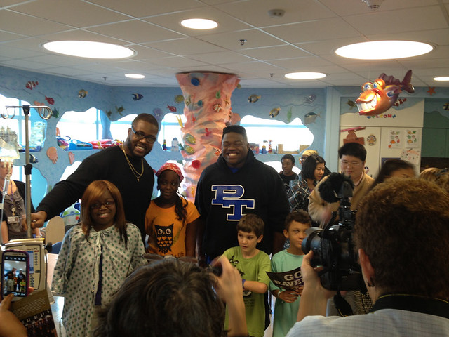 Baltimore Ravens Players Visit Children's Hospital