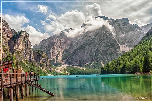 """Imbarcadero al Lago di Braies - Pragser Wildsee, mt.1.496 s.l.m (La casa di Terence Hill nella serie televisiva """"Un passo dal cielo"""") by cicrico"""
