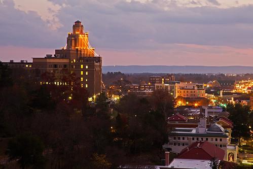 buildings sunsets historic arkansas