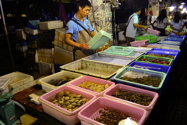 Night seafood market